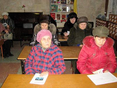Несмотря на ненастную погоду, гололед, члены организации «золотого возраста» собрались, чтобы узнать о том, что их ждет в ближайшее время.
